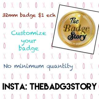 Customize Button Badges service