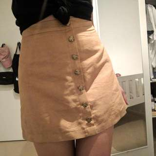 ava & ever suede button up skirt