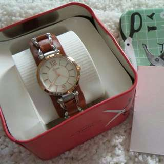 Fossil Wath Brown Leather