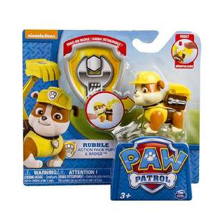 Paw Patrol Action Pack Pup & Badge - Rubble