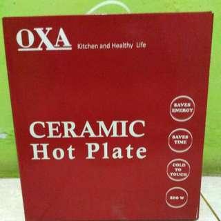 OXA CERAMIC HOT PLATE NEW & JUAL RUGI