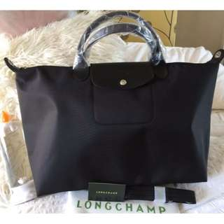 Longchamp Neo Large Bags (New, Genuine, On Hand and Available in Black and Navy Blue)