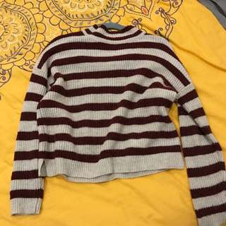Sports Girl Striped Knit