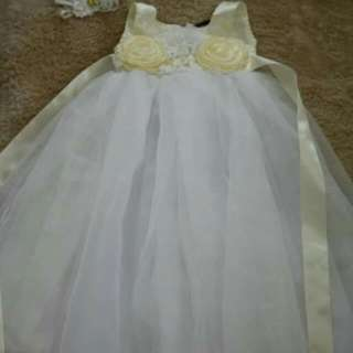 Ivory Baptism Long Gown