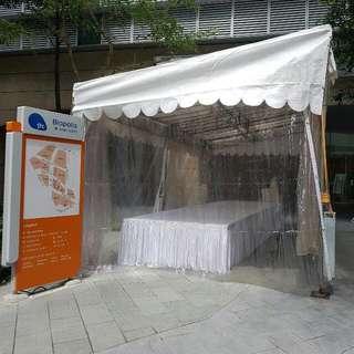 single slope tent 12✘24 feet for rental