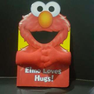 LIMITED EDITION! Elmo Hugs Book/ Children Bedtime Storybook/ Board Book/ Storybook.