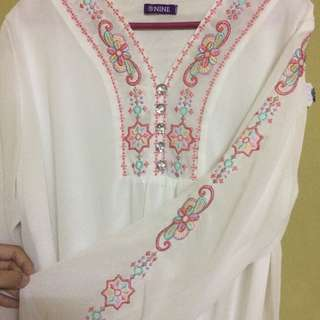 Embroided White Blouse