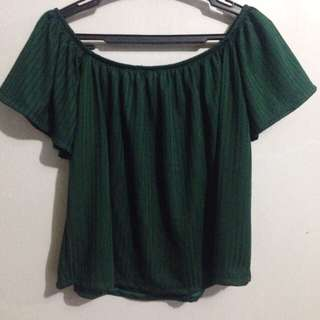 army green off shoulder