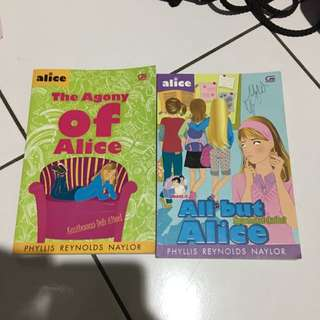 novel all but alice , the agony of alice