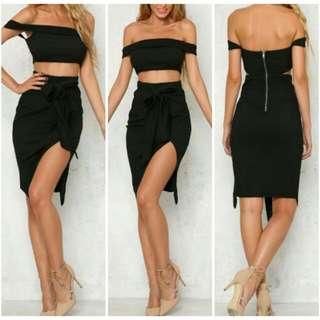 Black Midi Dress | Size M