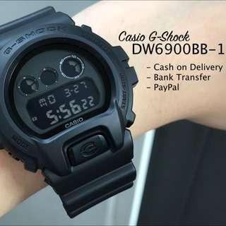 Casio G-Shock DW6900BB-1 Basic Black Digital Resin Watch