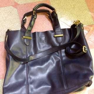 Blue Leather Bag
