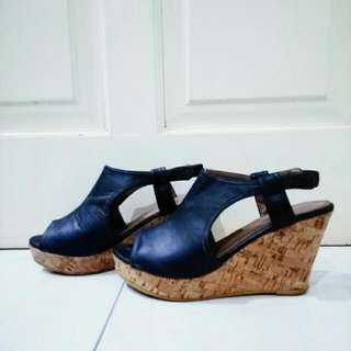 Black Wedges Bata