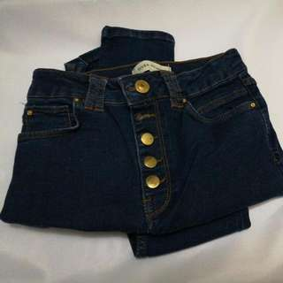 River Island blue jeans skinny size 25