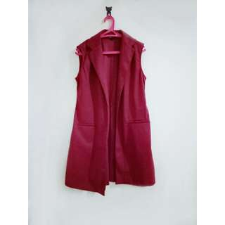 Long Cardigan Merah Bata