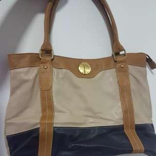 Sophie Shoulder Bag (Cream And Blue)