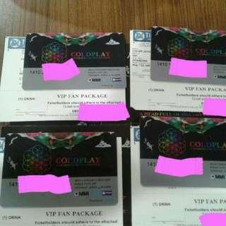 Coldplay VIP tickets a head full of dreams ahfod concert tix