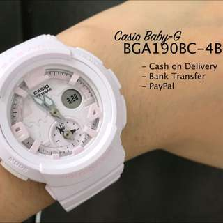 Casio Baby-G BGA190BC-4B Dual Time Queen Pink Resin Watch