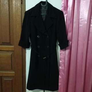 Afaf Black Coat Dress