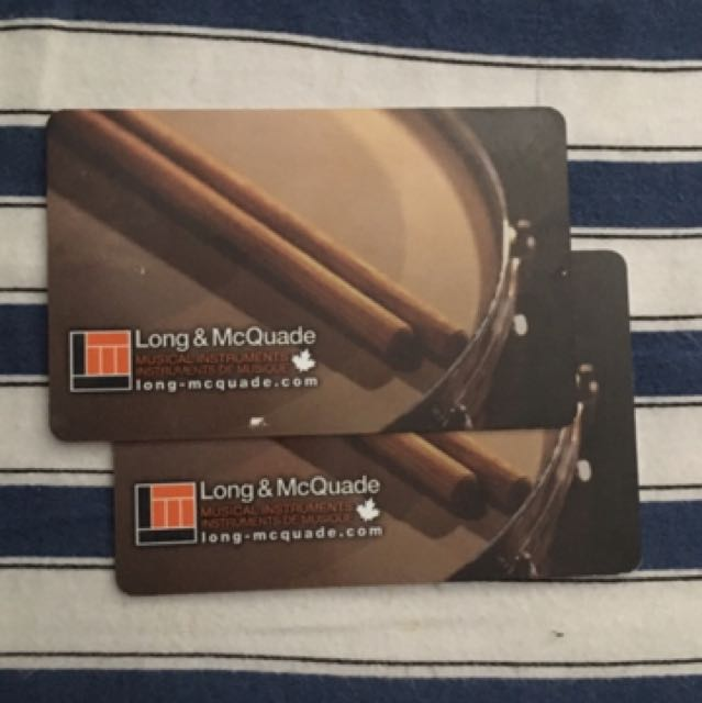 2 Long And Mcquade Gift Cards