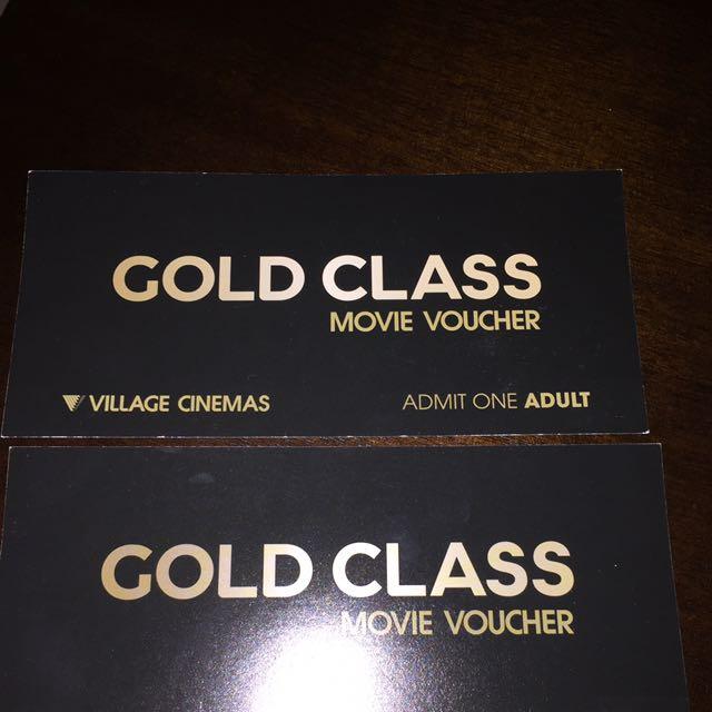 2 x Gold Class Movie Tickets