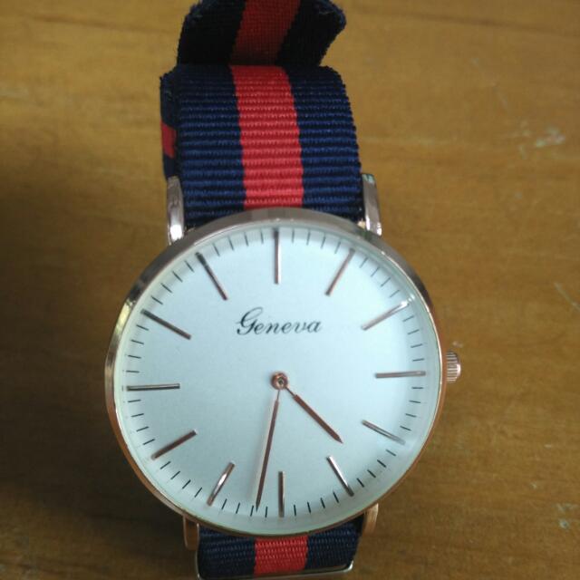 時尚帆布手錶(含運)