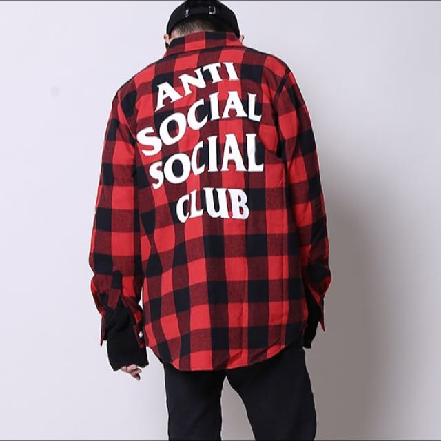 c9ffed6c9555 Anti Social Social Club No Expectations Flannel