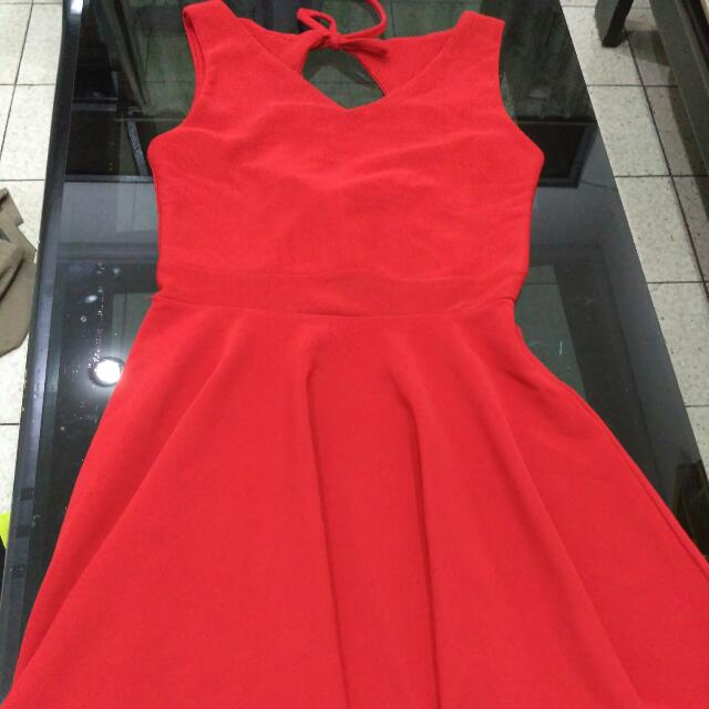 Backless Flare Midi Dress