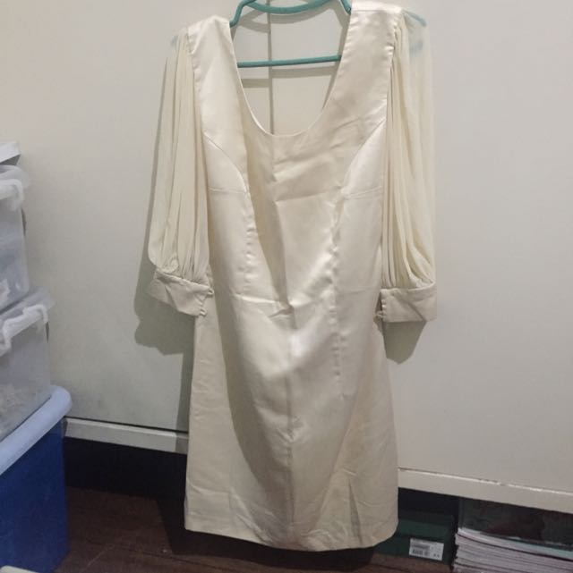 Beige Semi Formal Dress