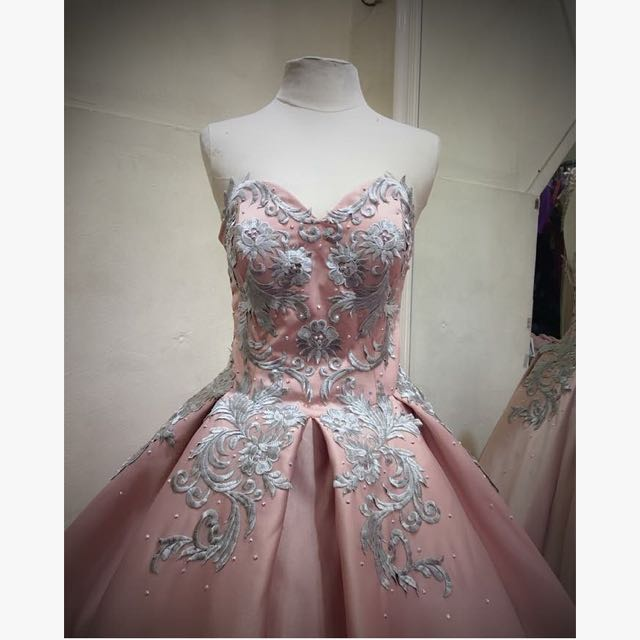 BLUSH PINK BALL GOWN FOR RENT, Everything Else, Others on Carousell