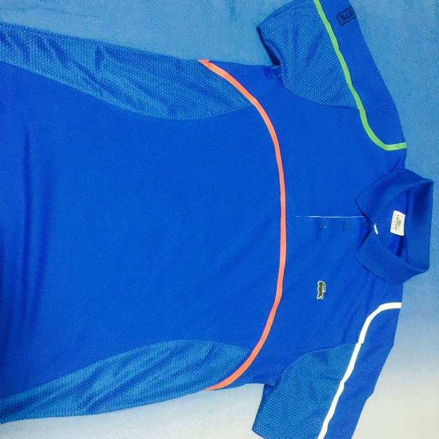 9565b5189 Brand New Authentic Lacoste Tennis Collared Dry Tech Sports Tee ...