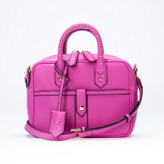 Carry Me【LAPTOP PM】方形筆電單肩小包 (桃紅色)