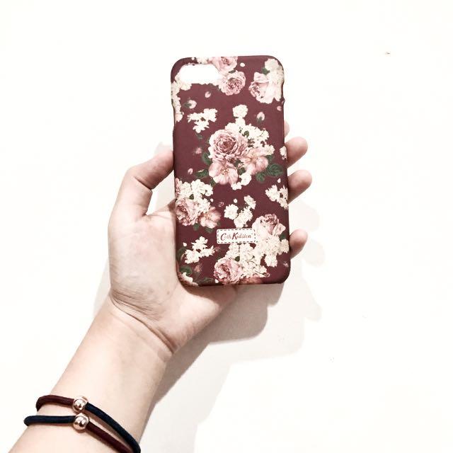 Cath Kidston Iphone 7 Maroon Case