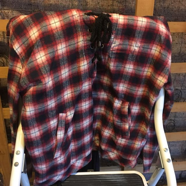 Checked Hooded Long Sleeve
