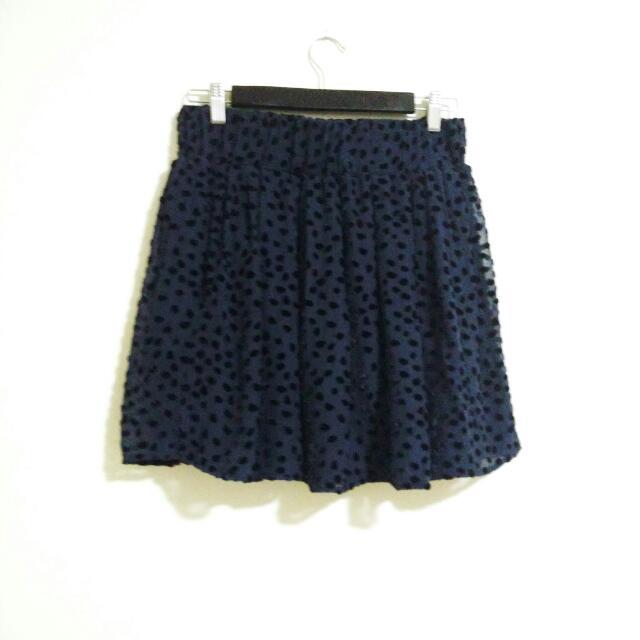 Club Monaco Navy Velvet Silk Skirt Size Medium