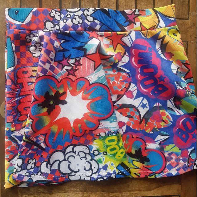 Colourful Comic Book Art Skater Skirt