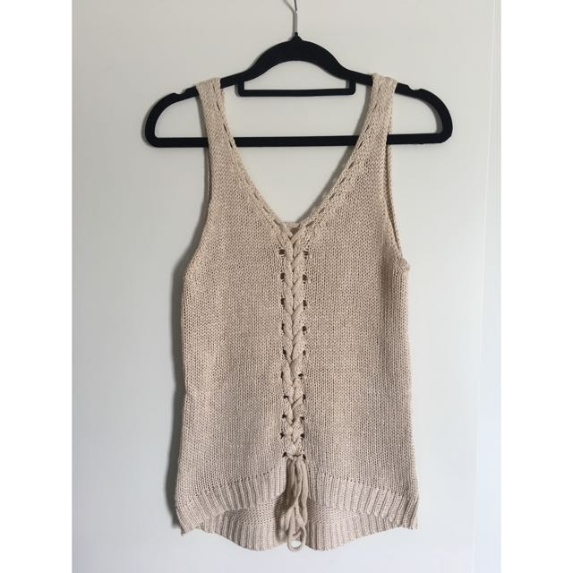 Cream/nude Knit Too