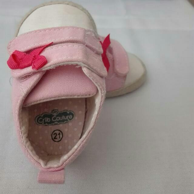 Set of 3 /Crib Couture and Fisher-Price Baby Shoes