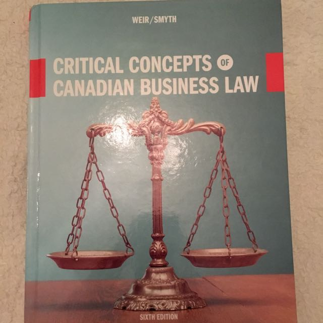 Critical concepts of business law