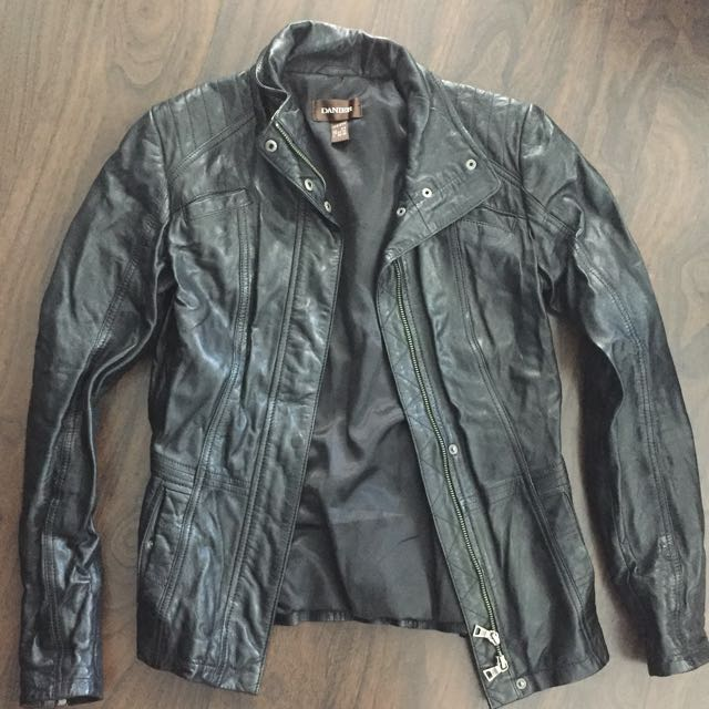 Danier Real Leather Black Jacket