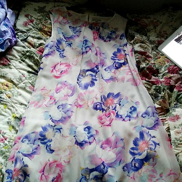 Floral Dress - Pink And Purple