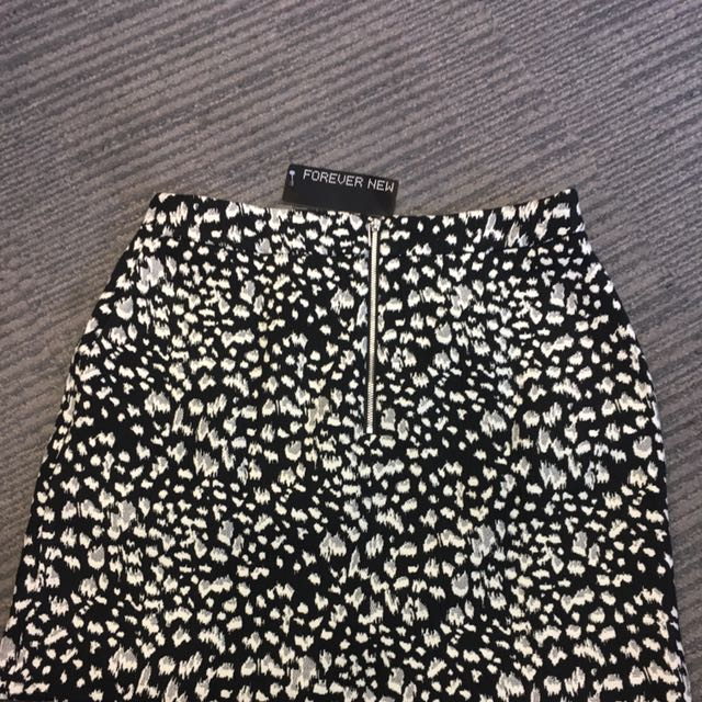 Forever New Animal Print Skirt Size 10