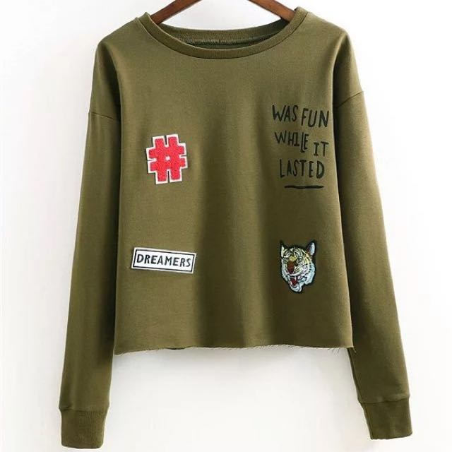 Green Army Sweater