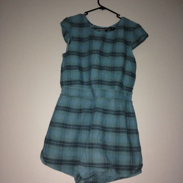 green playsuit size M