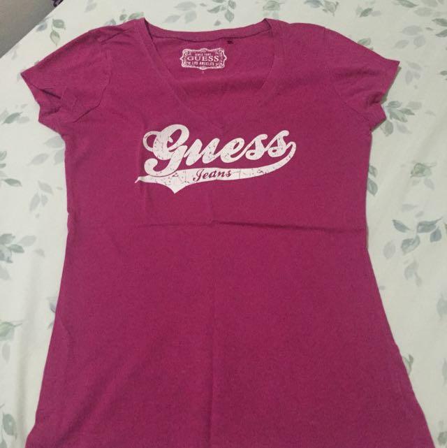 Guess Fuchsia Shirt