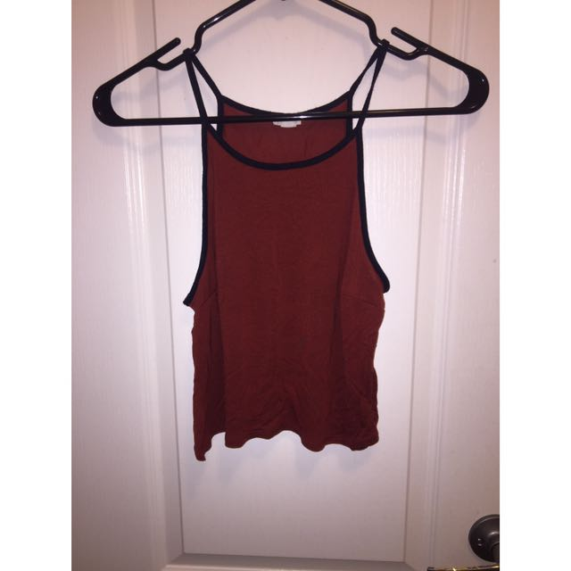 Halter Cropped Top (Burgundy)
