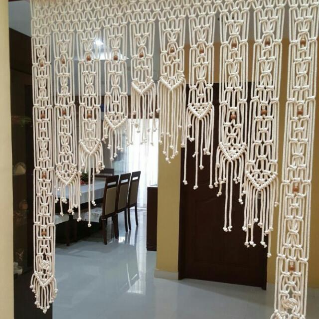 Handmade Macrame Door Curtain/Room Divider/ Wall Hanging