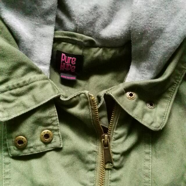 Hipster Jacket Army Green
