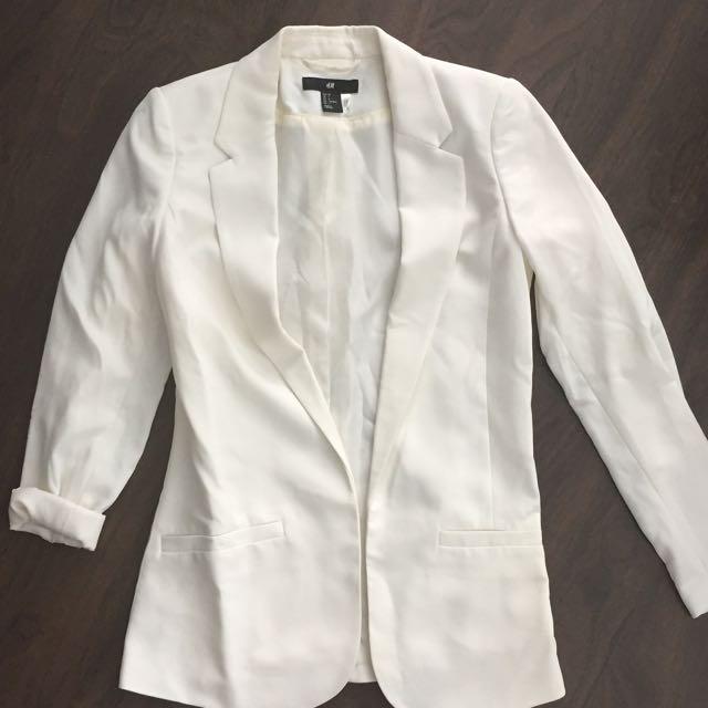 H&M Tapered Off White Blazer
