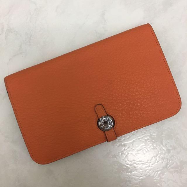 [Preloved] Inspired Designer Wallet (orange)